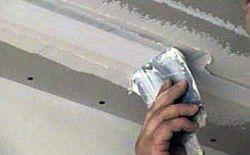 Двп на потолок заделка швов